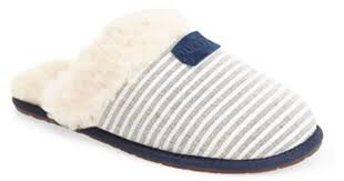 ugg slippers sale scuffette ugg s scuffette ii stripe slipper in blue lyst