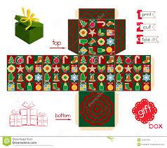 printable gift box christmas season stock vector image 45455780