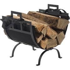 brass fireplace log holders