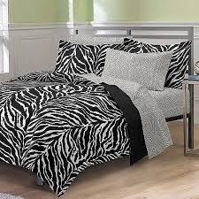 Zebra Bed Set My Room Zebra Complete Bed In A Bag Bedding Set Black White