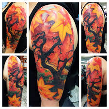 autumn maple tree done by popo of lou s in ny
