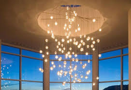 luxury glass ball chandelier in home decor ideas with glass ball