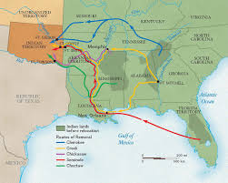 Southeastern United States Map by Indian Removal Act National Geographic Society
