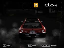 renault clio v6 nfs carbon renault clio v6 race vinyl by scouldren2900 need for speed
