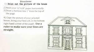 drawing a house the helpful art teacher perspective drawing 101 drawing a house