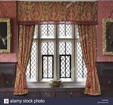 Dining Curtains Window Wallpaper And Curtains In The Dining Room At Gawthorpe