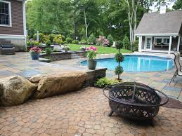 backyard pool landscaping backyard pool design in norwell mass terrain planning