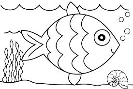 dessin a colorier poisson az coloriage