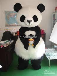 Panda Bear Halloween Costume Cute Panda Bear Mascot Costumer Fancy Dress Suit Halloween