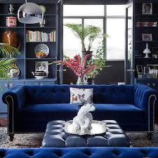 sapphire blue velvet sofa design ideas