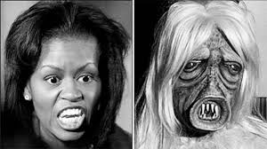 Obama Face Meme - found picture of michelle obama without makeup