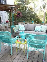 Patio Table Decor Amazing Of Colorful Patio Furniture 25 Best Ideas About With