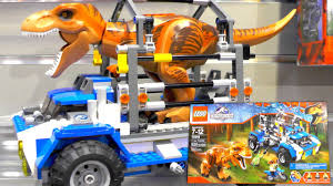 lego jurassic world jeep lego jurassic world 2015 sets new york toy fair youtube
