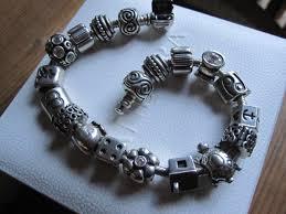pandora charm silver bracelet images Pandora bracelet by pandora with 17 pandora charms and 2 pandora jpg