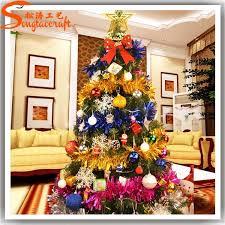 felt decor tree flat metal ornaments
