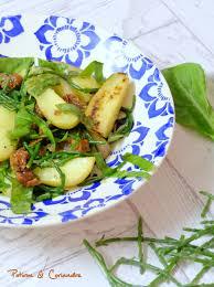 salicorne cuisine salade de pommes de terre oseille et salicornes