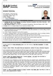 sample resume for sap fico consultant resume for your job