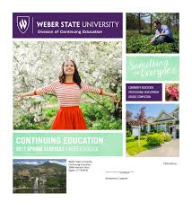 Weber State Campus Map Weber State Communty Education Catalog Spring 2017 By Weber State