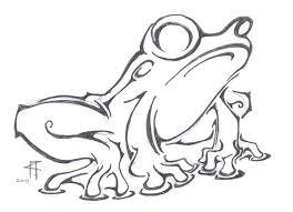tribal frog design by raymondthefrog