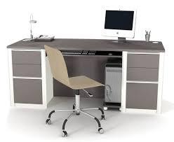 Unique Modern Computer Desk For Home Design With Black Keyboard - Home desk design
