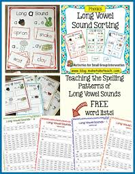 teaching long vowel spelling patterns make take u0026 teach