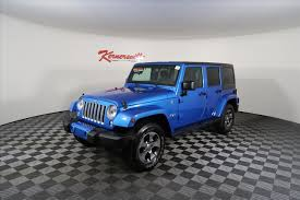 jeep wrangler 4 door blue jeep wrangler in kernersville nc for sale used cars on