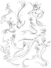 mermaid sketches by zombielady on deviantart