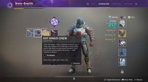 destiny 2 highest light level to get rat king exotic sidearm in destiny 2