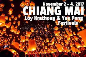 holiday magic festival of lights 2017 chiang mai loy krathong yee peng lantern festivals 2017 chiang