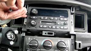 chevrolet impala radio removal youtube