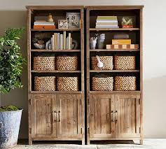 parker wide bookcase pottery barn