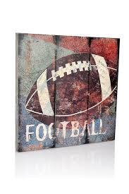 amazon com football sports canvas wall art boys bedroom décor