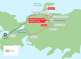 Osaka Train Map Osaka In Out Suggested Sightseeing Courses Tateyama Kurobe