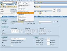sap production order table classification controlling of production orders sap tutorials