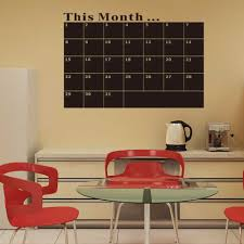 big stickers for wall sticker creations removable big size blackboard calendar stickers wall sticker office teaching wall stickers this month study decal