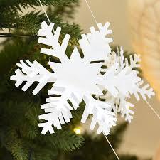 12pcs 3d snowflake decorations silver white snowflake cardboard