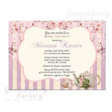 high tea bridal shower wording wedding invitation sample