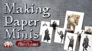 how to make paper dungeons and dragons minis youtube
