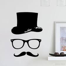 Home Decor Stickers Wall Moustache Vinyl Wall Stickers Wall Decal Art Home Decor Sticker