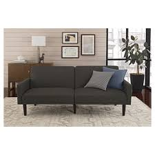 living room futon linen futon with arms gray room essentials target
