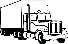 coloring pages horse trailer truck and horse trailer coloring pages semi tractor sem technogen info
