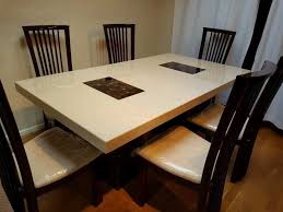 Dfs Dining Room Furniture As New Dfs Strasbourg Marble Dining Table 6 Chairs Rare Colour