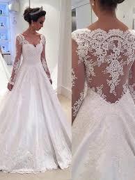 wedding dresses uk gown v neck sleeves lace court satin wedding