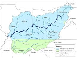 Ohio Rivers images A map of the ohio river valley circle of blue jpg
