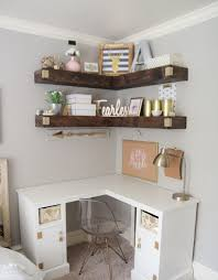 corner table ideas shabby chic home office ideas with nice white corner desk using