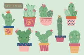 cute cactus clipart by poppymoon design thehungryjpeg com