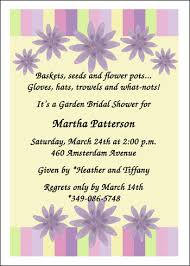 bridal shower invitation wording garden themed bridal shower invitation wording cloveranddot