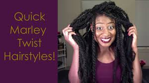 pictures of marley twist hairstyles quick marley twist hairstyles youtube