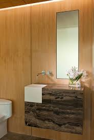 Stone Vanity Powder Room Sinks Powder Room Contemporary With Brown Stone Vanity