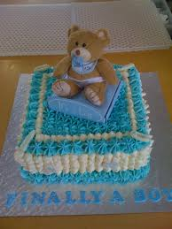 baby shower boy teddy bear cake cake decorating community cake